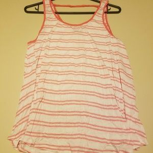Pink Rose Striped Top